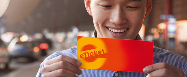Man with eticket